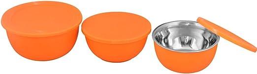 Kosma 3PC apto para microondas de acero inoxidable recipiente para ...