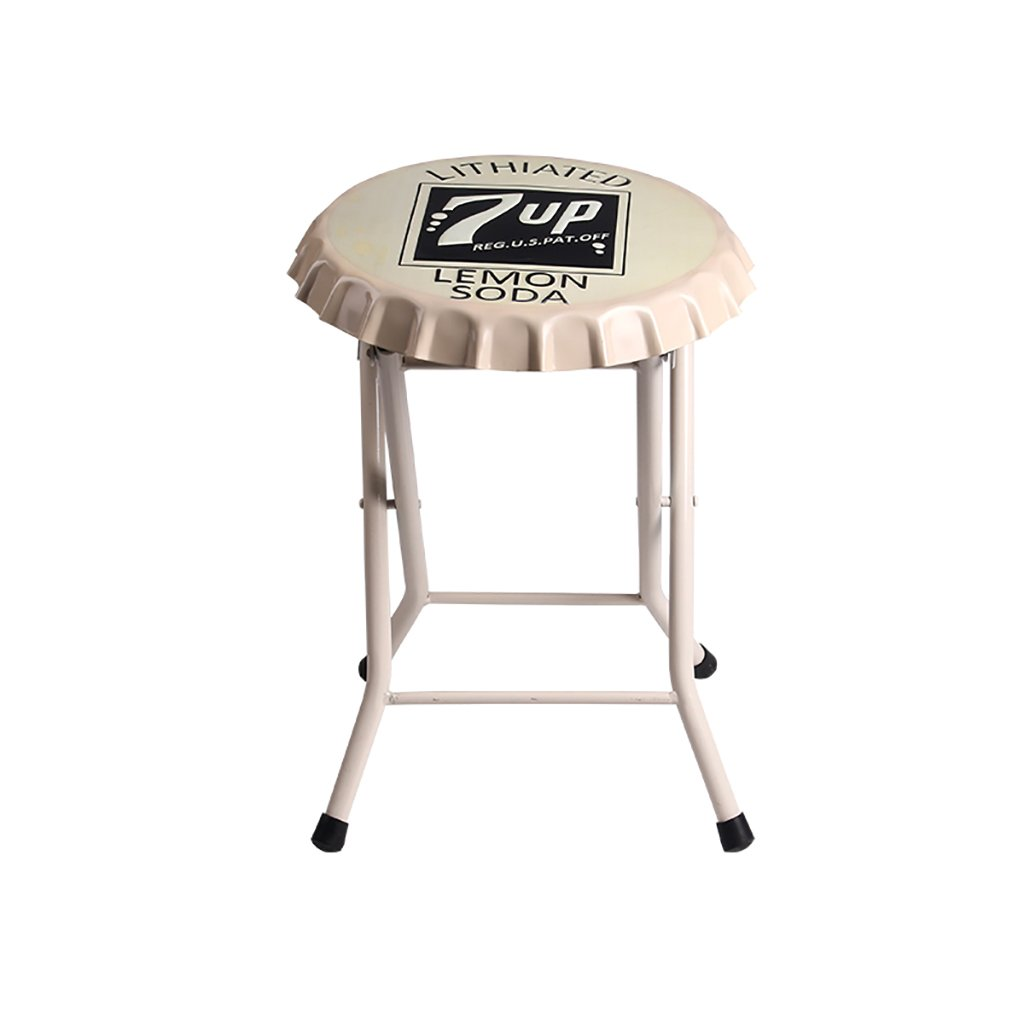 E One Bar Stool,Bar Chair Chair Counter Chair Retro Home Kitchen Folding Chair Desk Chair Without Back Stool Iron Wine Bottle Cap 8 colors Bar Stool Counter Chair ( color   G , Size   One )