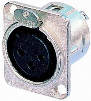 XLR Einbau-Buchse  3-Pin//Pol Female vernickelt Schwarz