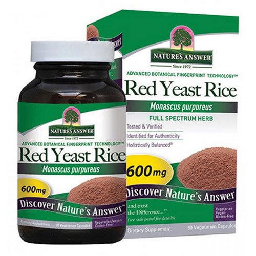 Nature's Answer Red Yeast Rice 600mg/90 Vegetarian Capsules each (Value Pack of 3)