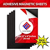 Flexible Magnets 4'' x 6'' Self Adhesive Magnets - Pack of 100