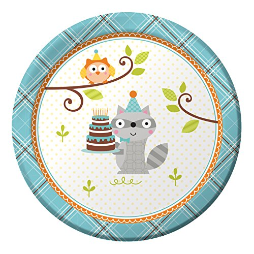 Creative Converting Dessert Plates Woodland