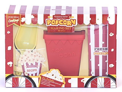 Handstand Kitchen Deluxe Popcorn Making Gift Set with Recipes by Handstand Kitchen