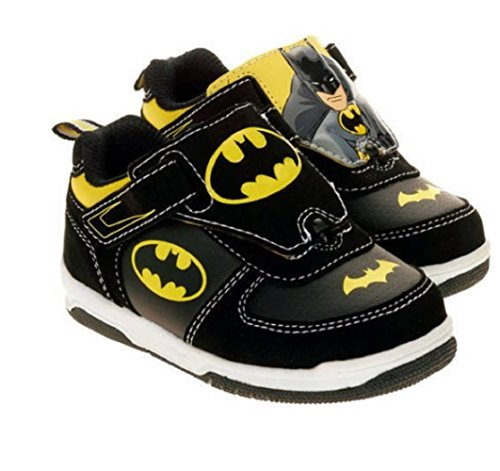 Batman Athletic Shoe (DC Comics Batman Boys I turn Athletic Shoes Sneakers Wear it 2 ways (13 US M Toddler))