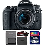 Canon EOS 77D 24.2MP DSLR Camera with 18-55mm IS STM Lens and 32GB Memory Card