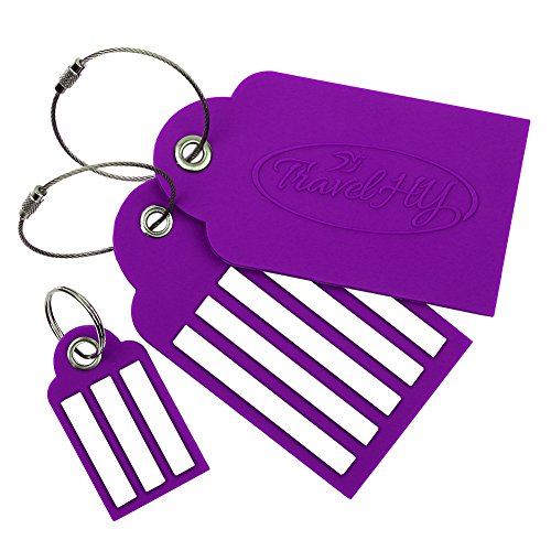 2 Large + 1 Small Travel Luggage Tags,