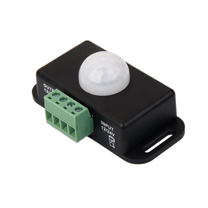 Cc Automática 12v-24v Interruptor Del Sensor De Infrarrojos De Movimiento PIR 8a Para La Luz Llevada: Amazon.es: Hogar
