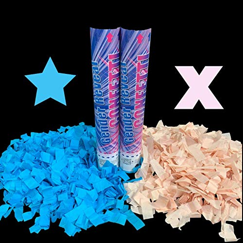 Its a Girl Confetti BIG Its a Boy Confetti 2 Pack 1 Pink /& 1 Blue Spring Loaded perfect for Gender Reveal Partys Gender Reveal Confetti Cannons