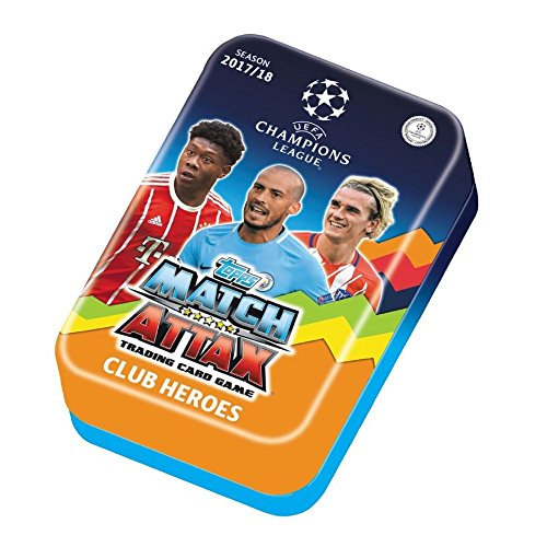 Club Tin - Match Attax 2017-18 Topps Champions League Cards - Club Heroes Mega Tin (60 Cards & LIMITED EDITION Gold Card)
