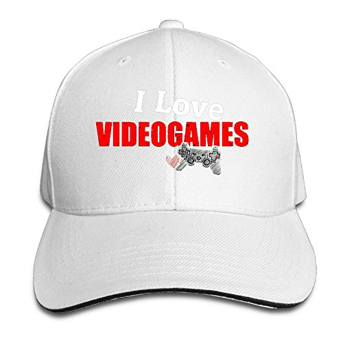 [Cutadorns I Love Videogame Outdoor Sandwich Hat White] (Lady Gaga Video Costumes)
