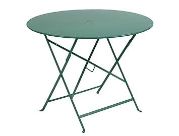 FERMOB Bistro Table pliante ronde cm. Ø 96 structure en acier ...