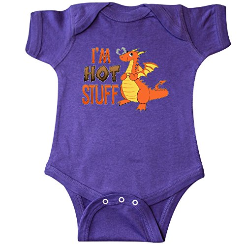 Dragon Infant Creeper (inktastic I'm Hot Stuff- Cute Dragon Infant Creeper 6 Months Purple 2e303)