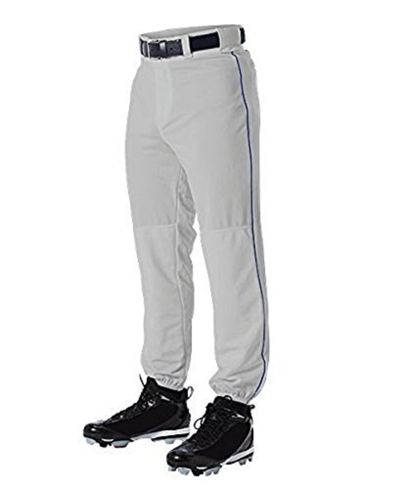 Champro Youth Triple Crown Dugout Baseball Pant with Braid B01I0J67KY Medium|グレー/ロイヤル グレー/ロイヤル Medium