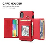 Case for iPhone Xs Max Slim Wallet Case Flip PU