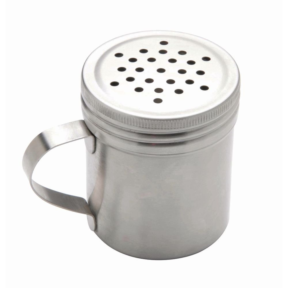 Focus 10 oz Stainless Steel Dredge with Handle - 3 mm Holes by FOCUS FOODSERVICE LLC