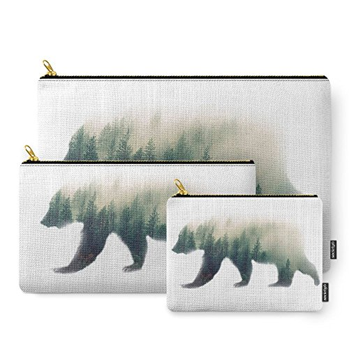 Society6 Grizzly Bear Dream Carry-All Pouch Set of 3