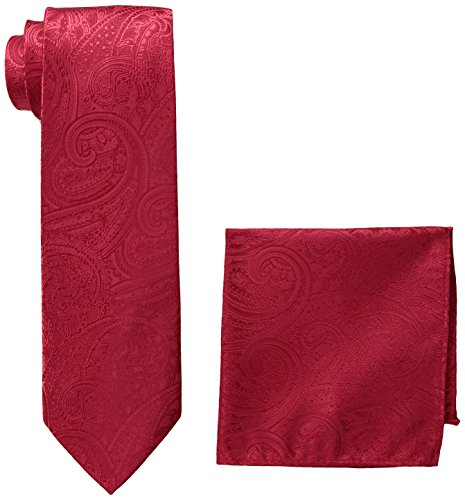 pierre-cardin-mens-solid-paisley-tie-and-pocket-square-red-one-size