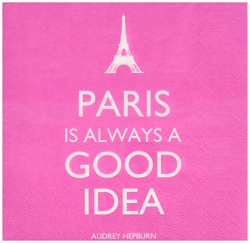 Paperproducts Design Paper Napkins (20 Pack), Paris is