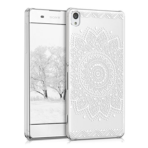 kwmobile Crystal Case for Sony Xperia XA - Hard Durable Transparent Protective Cover - White/Transparent
