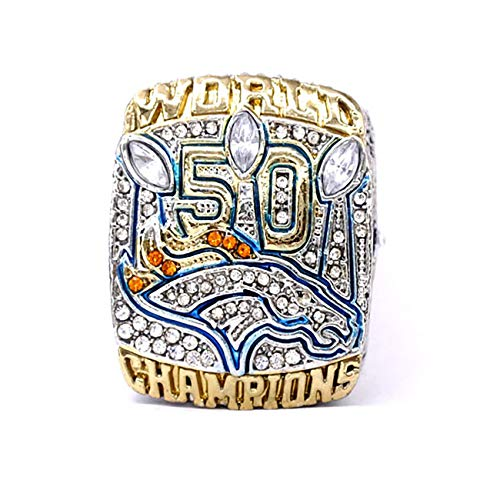 GF-sports store Replica Championship Ring for 2015 Denver Broncos Gift Fashion Gorgeous Collectible Jewelry (Manning)