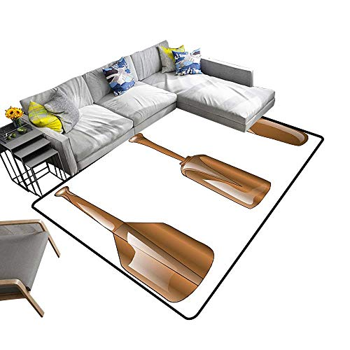 alsohome Non-Slip Thicken Carpe Wooden Canoe Paddl in Several Special Leisure Light Caramel Reusable and Easy to Clean 6' X 9' ()