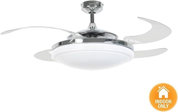 Fanaway EVO2 Endure 210932 - Ventilador de techo con lámpara (aspas plegables, incluye mando a distancia, 122 cm de diámetro): Amazon.es: Iluminación