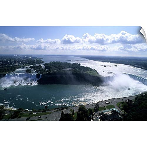 "CANVAS ON DEMAND Bill Bachmann Wall Peel Wall Art Print Entitled Looking Back at The USA Horseshoe Falls in Niagara Falls Ontario Canada 18""x12"""