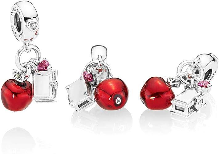 Pandora Disney Snow White's Apple & Heart Pendant Charm: Amazon.co ...