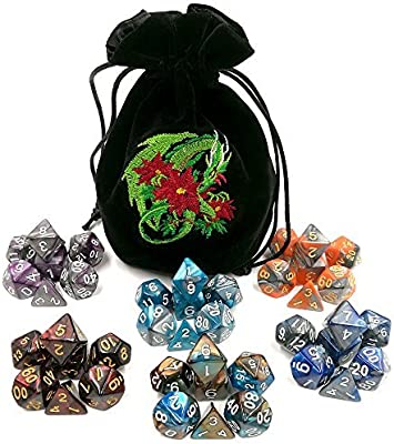Dice Bag Avengers Embroidery on Black Suede