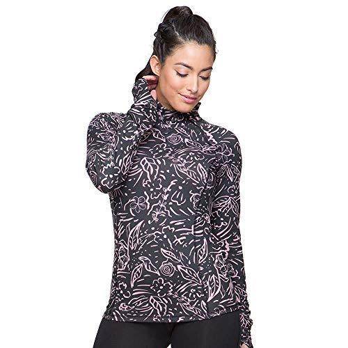 Colosseum Womens Bailey Long Sleeve Quarter Zip Wind Shirt Midnight Poppies - M