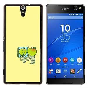 LECELL--Funda protectora / Cubierta / Piel For Sony Xperia C5 Ultra -- Minimalista Cartoon amarillas Niños --