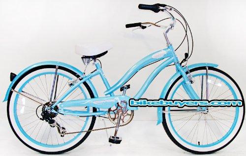 "Micargi Rover 7-speed 24"" for Women , Beach Cruiser Bike Sch"