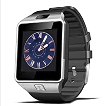 Padgene DZ09 Bluetooth Smart Watch with Camera for Samsung S5 / Note 2 / 3 / 4, Nexus 6, Htc, Sony and Other Android Smartphones (Silver(Black Band))