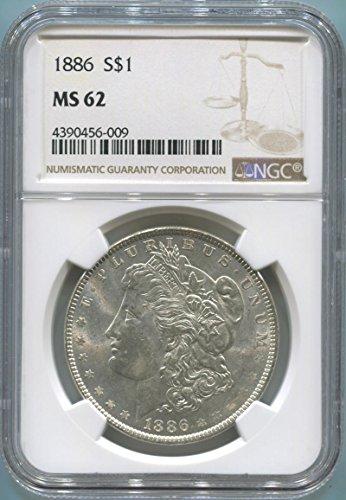 (1886 P Morgan Dollar Morgan Dollar MS62 NGC)