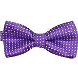 Weixinbuy Kids Flower Polka Dot Tuxedo Bowtie Neckwear Bowtie Purple
