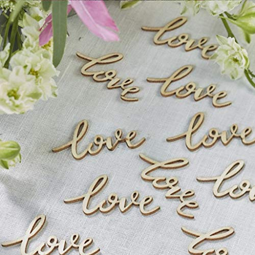 ❤ Lemoning ❤ Wedding LOVE Table Confetti Scatter Vintage Rustic Party Decoration Wooden 15 Pc - Eagle Storage Cabinets