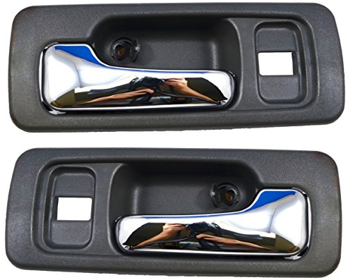 PT Auto Warehouse HO-2578MG-FP - Inside Interior Inner Door Handle, Gray/Chrome Lever - Front Left/Right Pair (1993 Honda Accord Right Door)