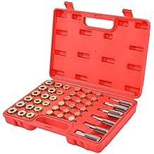 Goplus 114PCS Oil Pan Thread Repair Tool Set Sump Gearbox Drain Plug Key W/Carry Case
