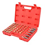 Goplus 114PCS Oil Pan Thread Repair Tool Set Sump Gearbox Drain Plug Key W/ Carry Case