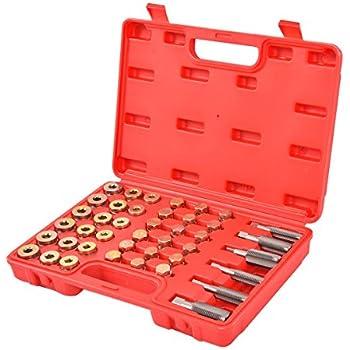 Amazon com: Oil Drain Plug Tap Thread Repair Kit Oil Pan
