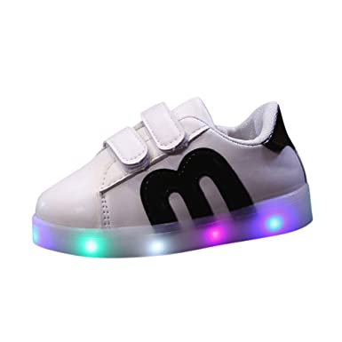 1587fc39cf7d Clearance Sale Toddler Kids Skate Shoes Children Baby Shoes LED Light Up  Luminous Sneakers,❤