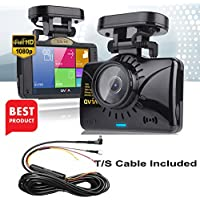 Car Dash Cam Dashboard Recorder Recording Blackbox- 2CH Full HD LCD, 1,024GB memory capacity, 135° Wide Angle, Format Free Memory, Sony Exmor Sensor, Night vision,G-Sensor, ADAS (Included 32G SD Card)