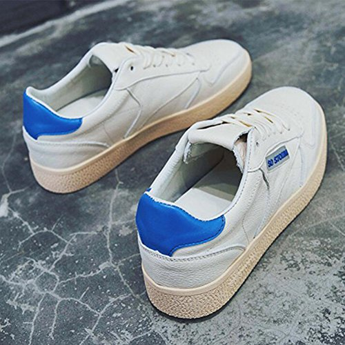 Beige Flat Sneakers Shoes White Womens Spring Casual Blue Leather GAOLIXIA Ladies Sports Shoes 8xUfww4n