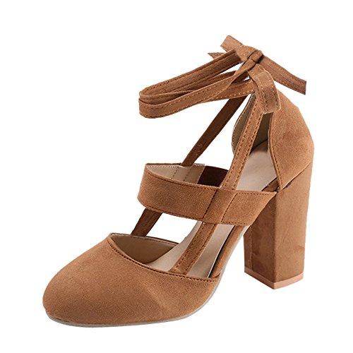 Liquidación! Covermason Moda Mujer Sandalia de tacón de aguja Sandalia de tacón de tobillo para la fiesta de la boda(39 EU, marrón): Amazon.es: Ropa y ...