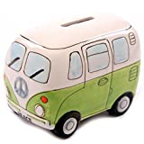 camper bank - D-Sun 1Piece Fancy Camper Money Box Ceramic Camper Van Coin Piggy Bank Gifts for Kid Money Saving Box Bus Car Moneybox Green