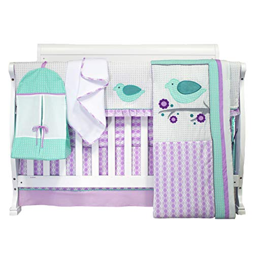 Pam Grace Creations 6 Piece Lovebirds Nursery to Go Crib Bedding Set