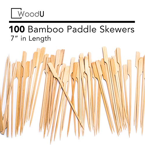 Bamboo Picks Paddle Skewers (Pack of 100), 7