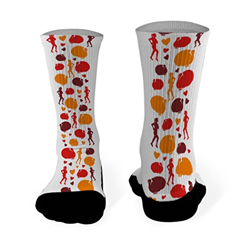 Gone For a Run Running Printed Mid Calf Socks Runner Turkey - SMALL - fits Men's Shoe Size 4... (Turkey Size For 4 Adults)