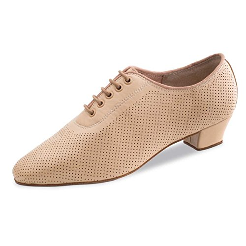 Anna Kern - Mujeres Practice Shoes 570-35 - Cuero Beige - 3,5 cm Beige