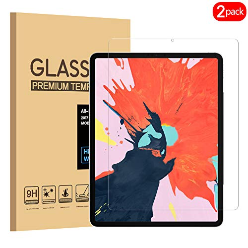 PULEN iPad Pro 11 Screen Protector 2018,HD Clear Easy Istallation No Bubble Anti-fingerprints 9H Tempered Glass Film for New Apple iPad Pro 11 Inch Tablet 2018